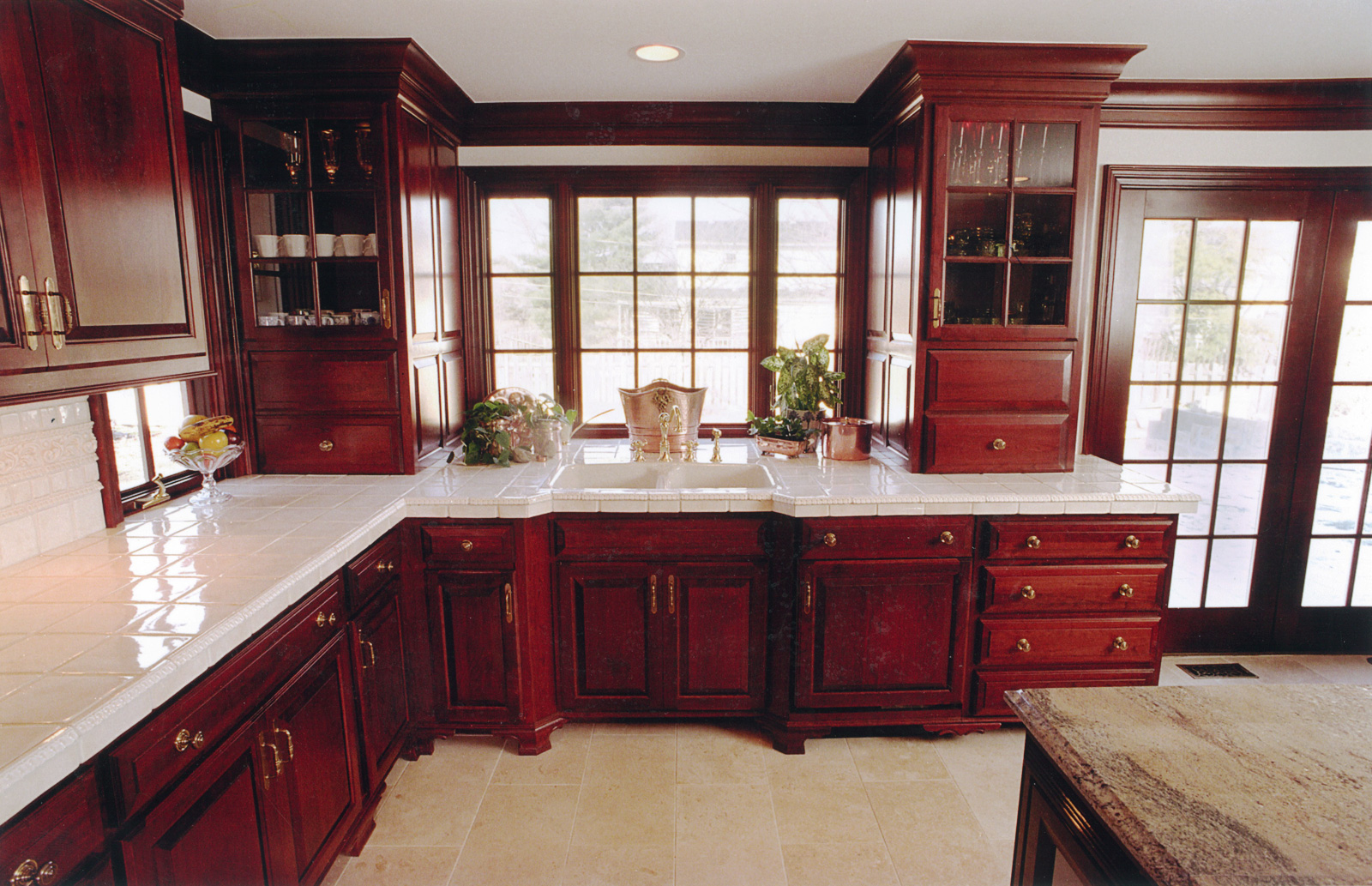 Cherrywood Kitchen with Tile Countertops made in Central Ohio