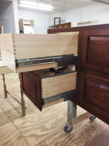 Dovetailed Office Drawers by The Zang Company.