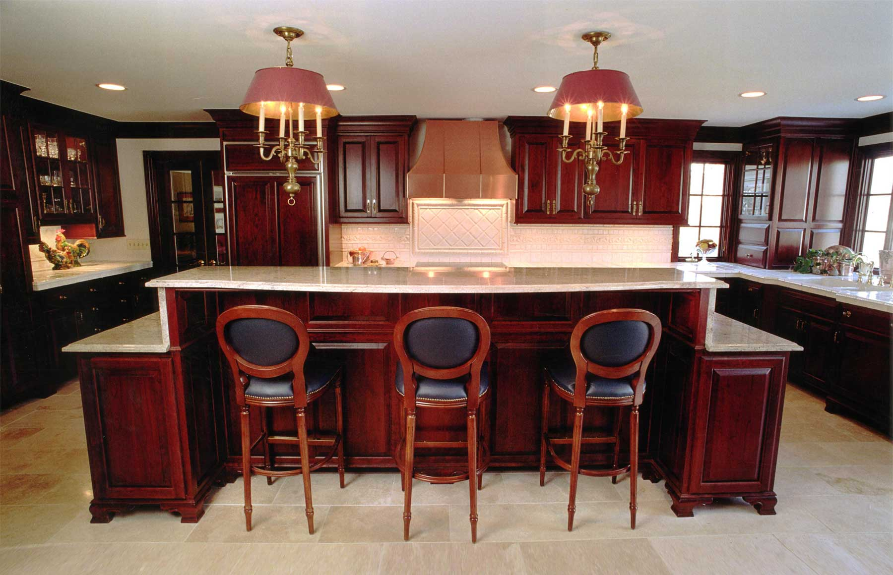 Custom made Cherrywood Kitchen for Upper Arlington Doctor.